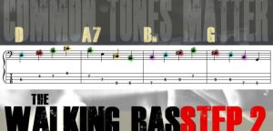 Walking Bass Line Tab Step 2: Common Tones