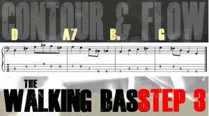 Walking Bass Line Tab Step 3: Contour & Flow